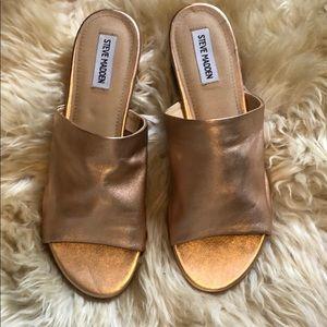 🎀Rose Gold Heeled Sandal - 💯Leather!